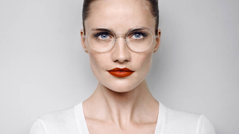 The transparent frame remains a clear eyewear trend in 2020